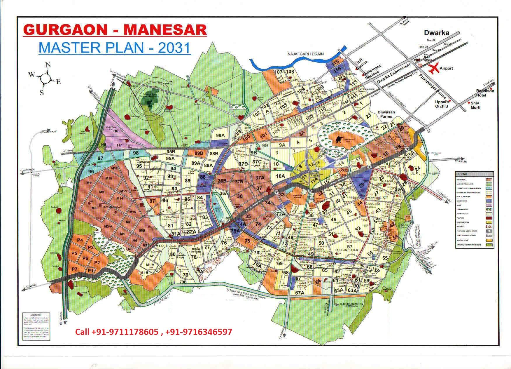 Gurgaon Manesar Master Plan Sohna Master Plan 2031