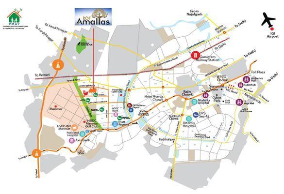 ROF-Amaltas-sector-92-location-map