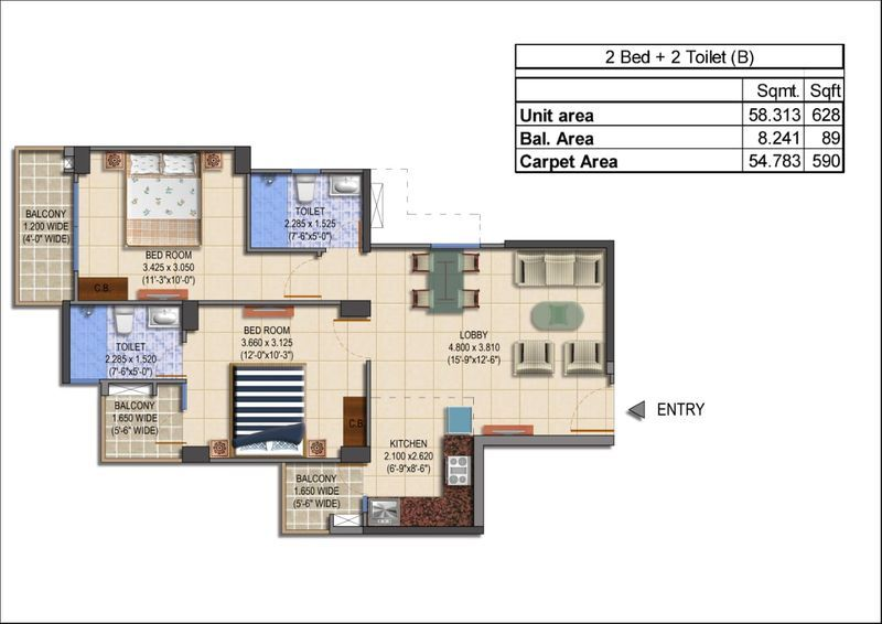 MRG-World-The-Balcony-2-bhk-type-b